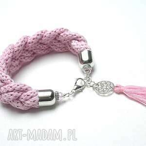 /hygge/pink vol 2 /06-11-17/ bransoletka, warkocz, sznurki, chwost, hygge