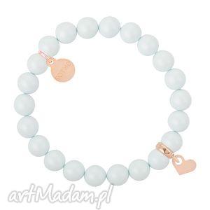 Niebieska pastelowa bransoletka perły swarovski® elements
