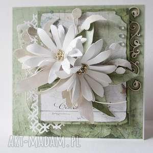 W zieleni - pudełku scrapbooking kartki marbella imieniny