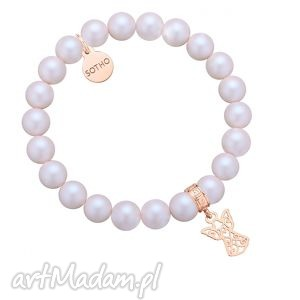 sotho perłowa bransoletka z pereł swarovski® crystal z - świąteczna