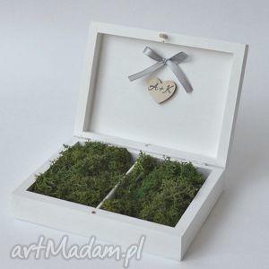 Prezent Pudełko na obrączki ślubne Rustykalne, ślub, wesele, pudełkanaobrączki