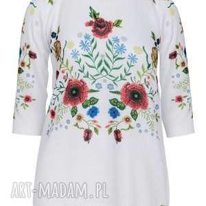 Letni sweterek, dzianina, print, folk, bluzka, kwiaty