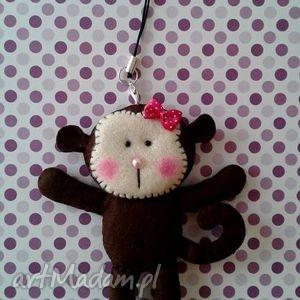 filcowy breloczek małpka, małpa, brelok, filc, breloczek