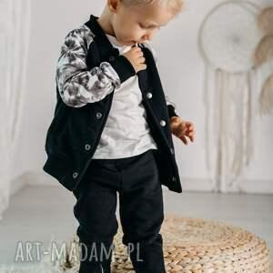 bomberka szara - melanż, chłopiec, rękodzieło, bluza, bomberka, jesień