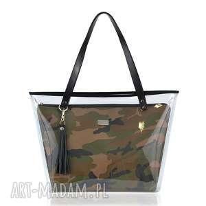 na ramię torebka delise 2w1 1055 moro, torebka, delise, foliowa, wkłady