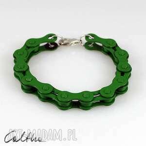 zielona - rowerowa bransoletka, bransoleta, rower