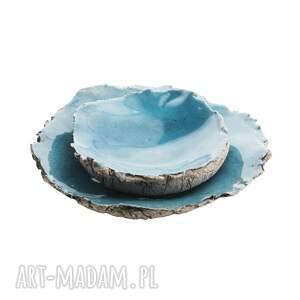 unikalny, zestaw ceramiczny, talerzyki, miseczki, zestaw, talerzyki ceramiczne