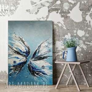 butterfly obraz ręcznie malowany 100x80 cm, faktura 3d, motyl