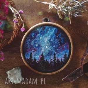 handmade dekoracje obrazek haftowany tamborek