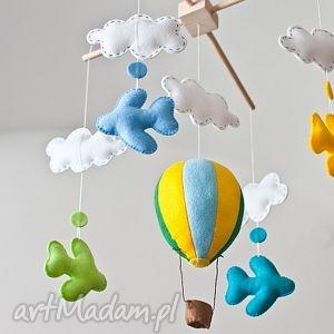 karuzela nad łóżeczko - samoloty - wzÓr - karuzela, mobilek, balon