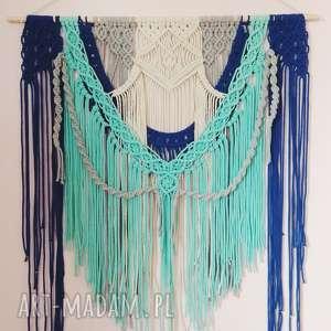 dekoracje makrama - wall hanging, macrame, bawełna, wallhanging, makrama, sznurek