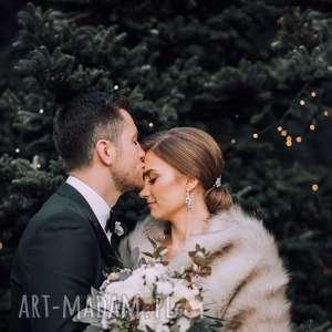 ślub szal ślubny z eko-lisa