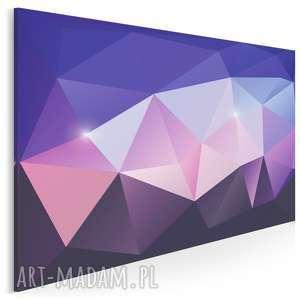 Obraz na płótnie - kryształ fioletowy różowy 120x80 cm 62502