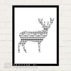 Deer Pattern Plakat 30x40, plakat