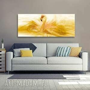 renata bulkszas obraz do sypialni flaming akwarela złoty 150x60, flaming