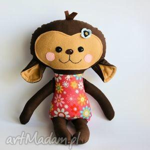 maskotki małpka zuza 45 cm, małpka, dziewczynka, maskotka, roczek, chrzciny