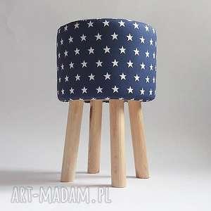 Pufa Niebieskie Gwiazdki 2 - 45 cm, puf, pufa, stołek, taboret, hocker, ryczka