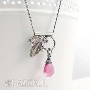 Rosa naszyjniki amade studio liście, romantyczny, dziewczęcy