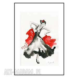 ajan art cykl flamenco - tancerka ii, taniec, flamenco, kobieta, obrazy