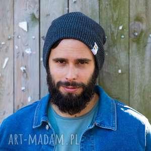 ręcznie zrobione czapki czapa dwustronna logo kolorowe cool gray