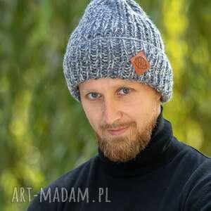 handmade czapki lucky stylowy szary