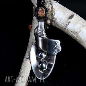 hand made wisiorki perła kamień naturalny łyżeczka oryginalna biżuteria