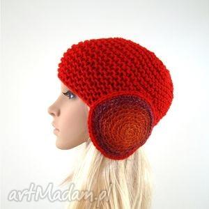 czerwony kapturek - czapka, fantazyjna, nauszniki, prezent, zima, oryginalna