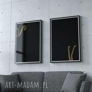 pomysł na prezent ZESTAW 2 GRAFIK 60 x 90 cm FLAMINGO , flaming, flamingi, podwójna