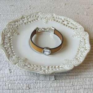 bransoletki bransoletka z grafiką bridge, biżuteria, bransoletka, bransoletki, skóra