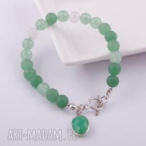 zielona bransoletka z agatu, jadeit