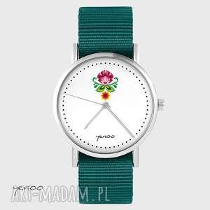 zegarki zegarek - folkowy kwiat morski, nato, zegarek, bransoletka