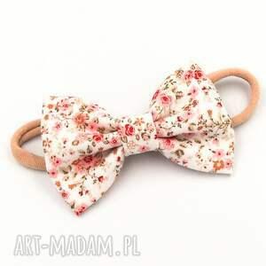 opaska do włosów z kokardą florence pink, włosów, kokardka w kwiatki