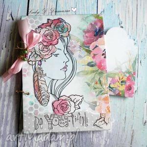 stylowy notes / pamiętnik różany zapach tego lata, notes, stylowy, róże, dziewczyna