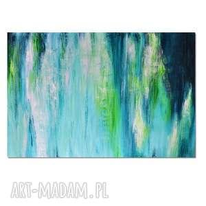 Głębia 30, abstrakcja, nowoczesny obraz ręcznie malowany