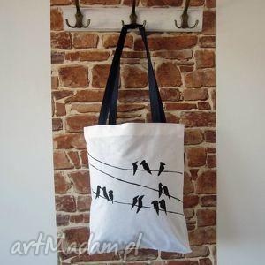 na zakupy bawełniana ekotorba z ręcznie wykonaną grafiką, eko torebki