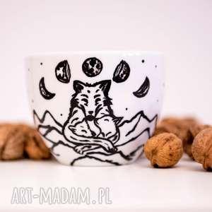 kubki duży kubek wilczyca matka, góry, dziań matki, ręcznie malowane, ceramika