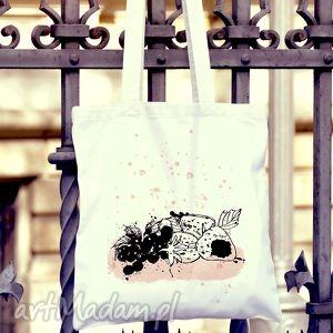 oryginalny prezent, owocowa torba na zakupy, torba, naramię, bawełna, owoce