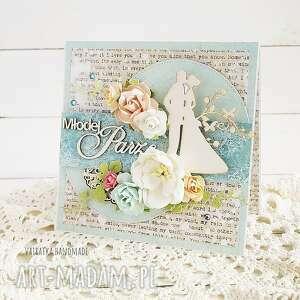 vairatka-handmade młodej parze kartka w pudełku 663 - wesele