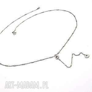chain - naszyjnik - srebro, oksydowane, metaloplastyka, łańcuszek