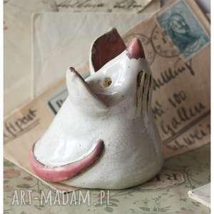 biała mysz, ceramika, mysz dom