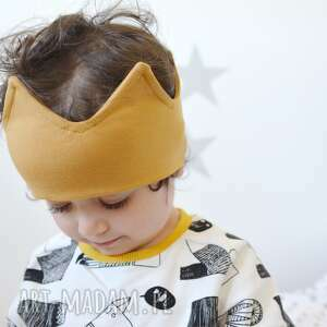 ręcznie wykonane ubranka opaska korona miodowa