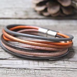 bransoletki modna bransoletka z rzemieni, jesienne kolory, bransoletka