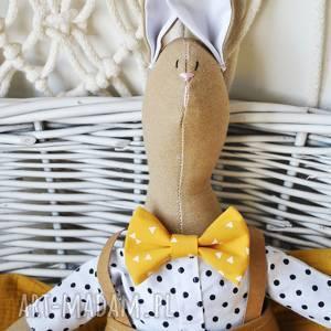 pan królik, przytulanka, imie, wyszyte, personalizowana, zabawka