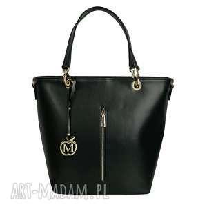 Manzana duża torebka kuferek hot elegancka czarna torebki
