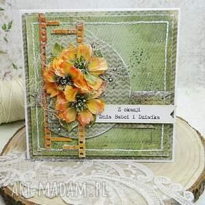 Dla babci i dziadka - kartka z pudełkiem scrapbooking kartki