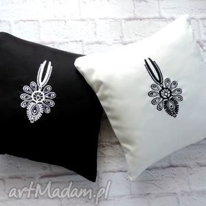 ręcznie zrobione poduszki haft parzenica folk góralskie zestaw 2 szt