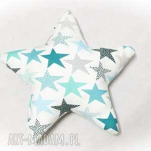 handmade pokoik dziecka duża poduszka gwiazdka zaczarowane niebo - mięta