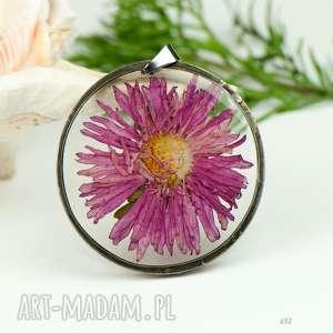 Prezent Naszyjnik z prawdziwym kwiatem z32, naszyjnik-z-kwiatów, herbarium-jewelry