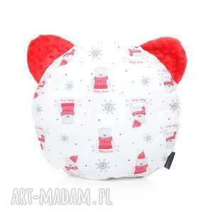 ręcznie robione dla dziecka poduszka podusia miś christmas bear