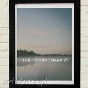 silence plakat 30x40, minimalizm dom